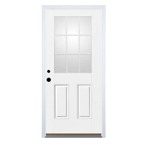 9 light exterior door shop therma tru benchmark doors 2 panel insulating 9