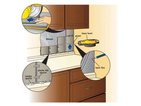 how to apply backsplash in kitchen how to install a tile backsplash how tos diy