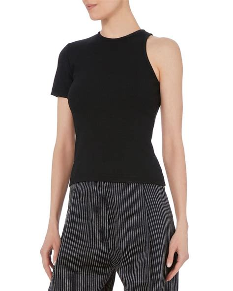 one shoulder knit top 2 stores in stock beaufille portia one shoulder ribbed