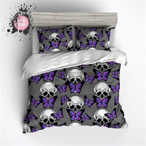 purple butterfly bedding purple butterfly skull duvet bedding sets ink and rags