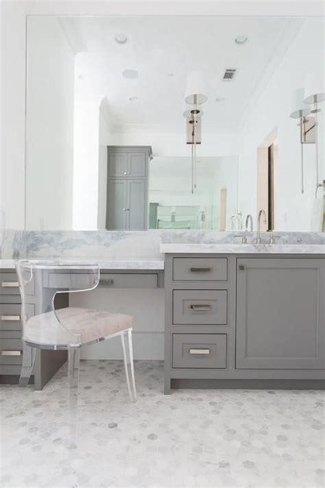 makeup vanity in bathroom 17 best ideas about modern marble bathroom on