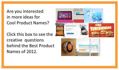 creative names creating cool product names for a new product idea 8