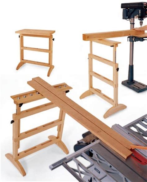 woodworking plans stand 3 in 1 work support woodworking plan from wood magazine