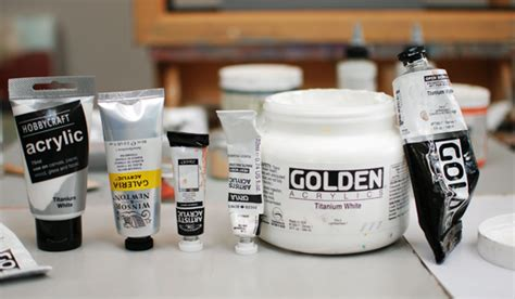 difference in acrylic paint quality how to choose a white paint for acrylic painting