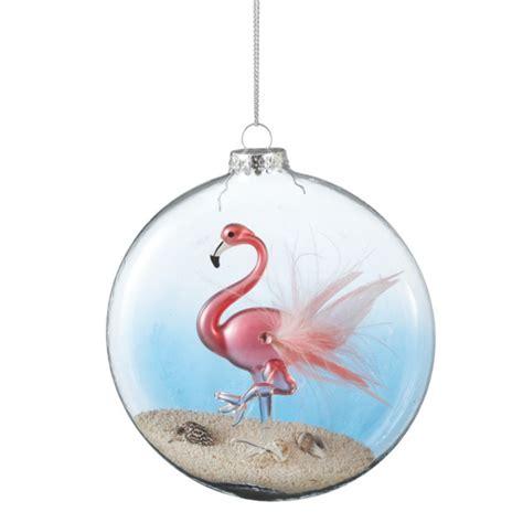 pink flamingo ornaments pink flamingo disk ornament