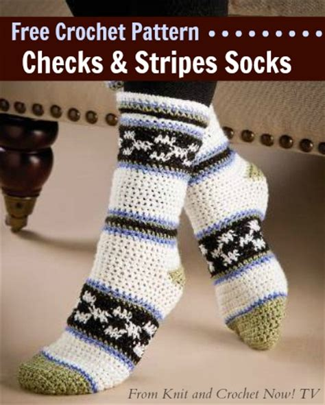 knit and crochet now episodes free crochet pattern this checks stripes