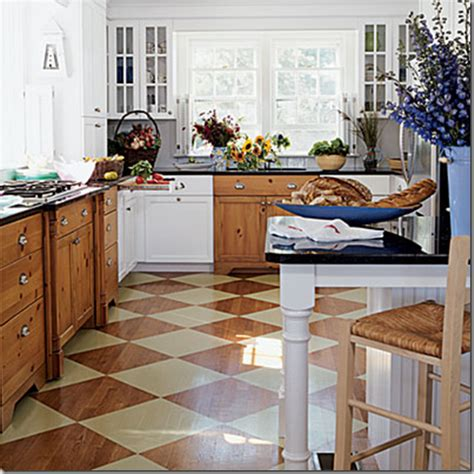 painted kitchen floors developing designs by jens sisino add pizzazz