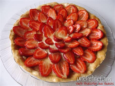 tarte feuillet 233 e aux fraises une faim