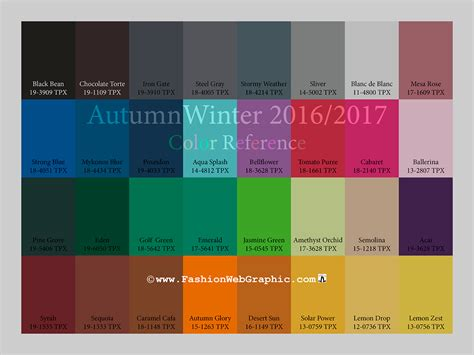 2017 trend colors aw2016 2017 trend forecasting on behance