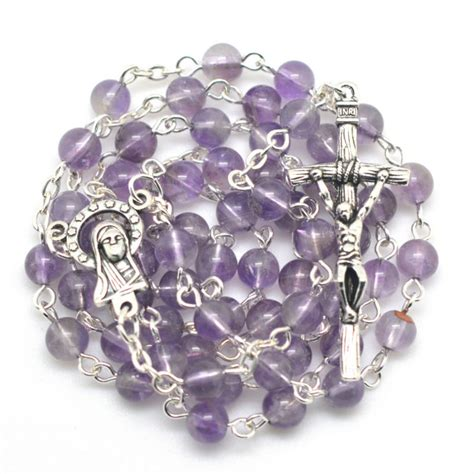 high quality rosary free shipping pink quartz bead rosary necklace high