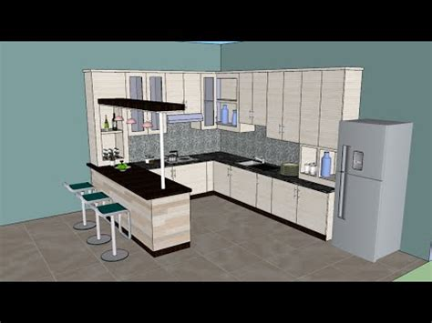 designing a kitchen with sketchup sketchup tutorial interior design kitchen
