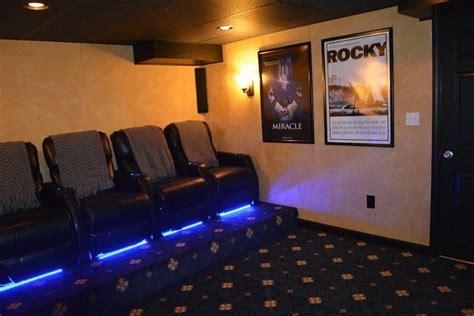 Impressive Basements Boston by Bridgewater Movie Room Elavated Seating Kaks Basement