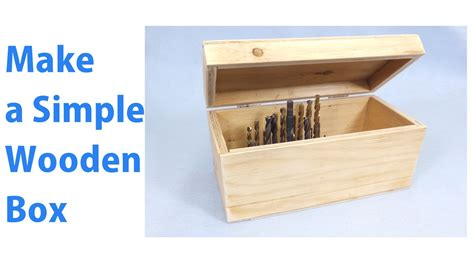 how to make a box out of a card a simple wooden storage box a woodworkweb