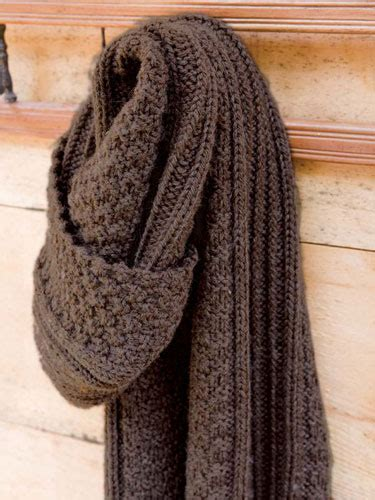 simple mens scarf knitting pattern beagle scarf berroco
