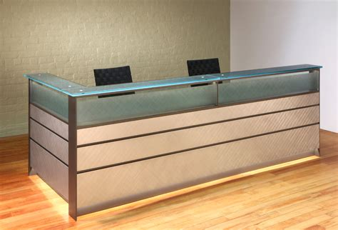 metal reception desk custom reception desks glass reception desks stoneline
