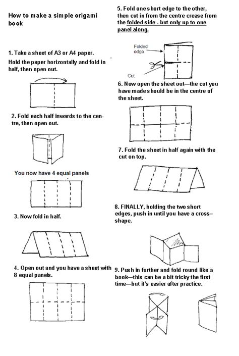 how to make a origami book lovemybooks free reading resources for parents