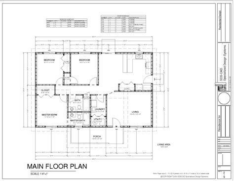 house plan drawing pdf ranch house plan pdf blueprint construction documents 19