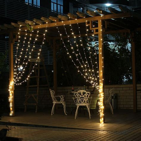 decorative outdoor string lighting 3mx3m 300 led outdoor lighting