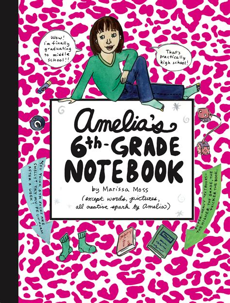 6th grade picture books amelia s 6th grade notebook book by marissa moss