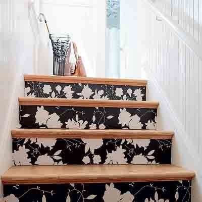 decoupage stairs decoupage your stair risers diy