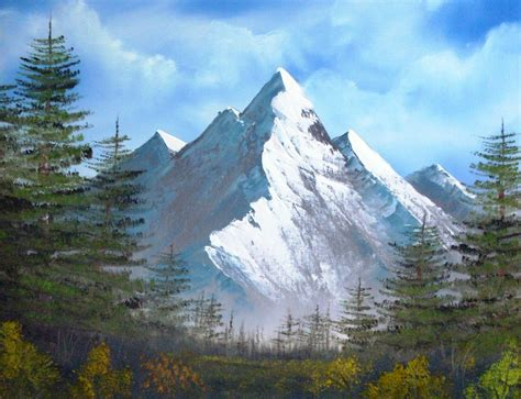 bob ross paintings mountains happy trees studio march 2011