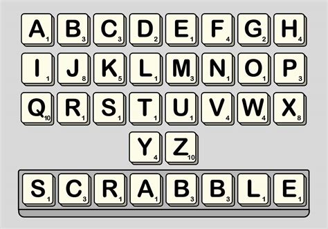 scrabble letter tiles template scrabble vector set free vector stock