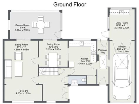 Rectangle House Floor Plans display the area of a room web roomsketcher help center