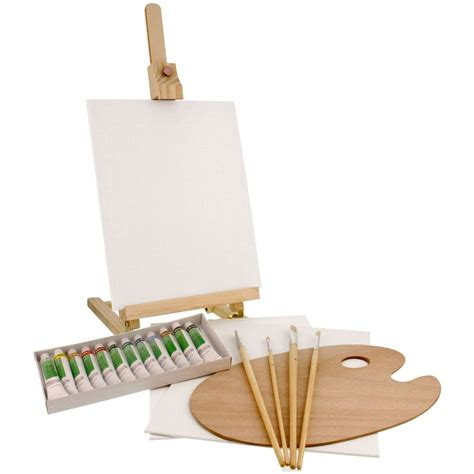 acrylic paint and canvas supplies us supply 21 acrylic painting set with table