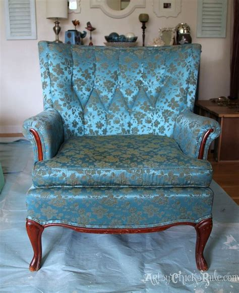 chalk paint upholstered chair thrifty chair makeover with sloan chalk