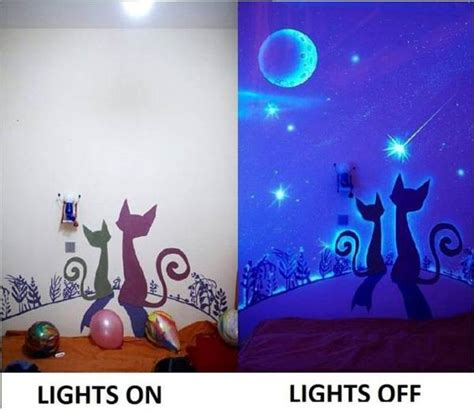 glow in the paint projects bedroom decoration made with glow in the paint find