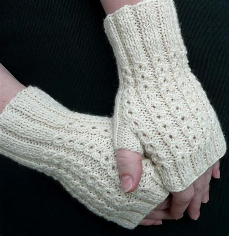 free knitting pattern for fingerless gloves on needles bonbons fingerless mitts knitting patterns and crochet