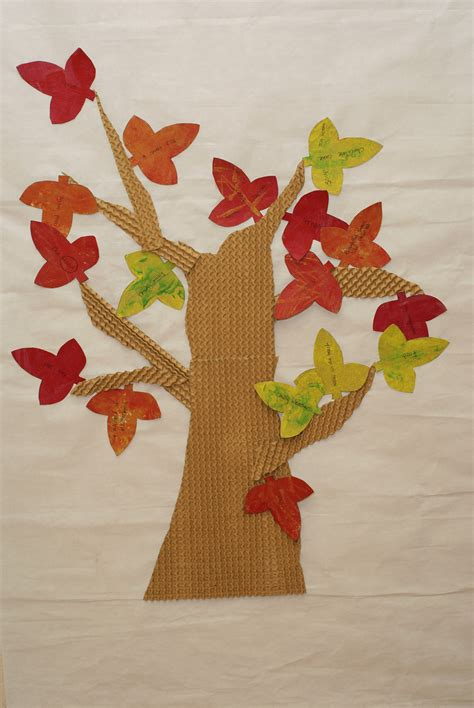 autumn arts and crafts for the tree of gratitude a fall project raised from