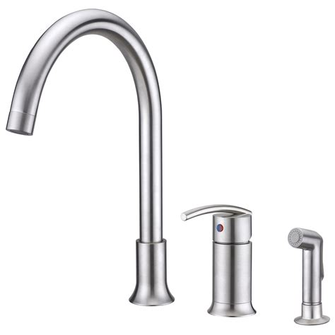kitchen faucet single handle sweep collection single handle kitchen faucet with side spray ultra faucets
