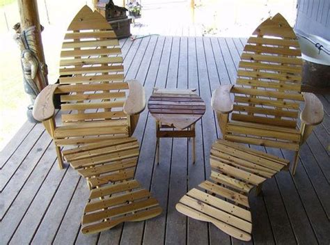 fish adirondack chair plans fish shaped adirondack chair with ottoman by