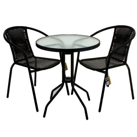 bistro table sets outdoor furniture black wicker bistro sets table chair patio garden outdoor