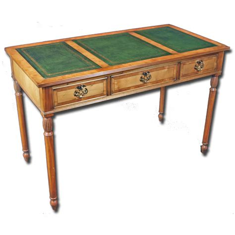 reproduction office desk reproduction writing desk in yew or mahogany woods