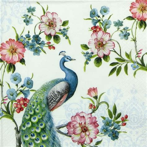 decoupage paper napkins 4x peacock paper napkins for decoupage decopatch craft ebay