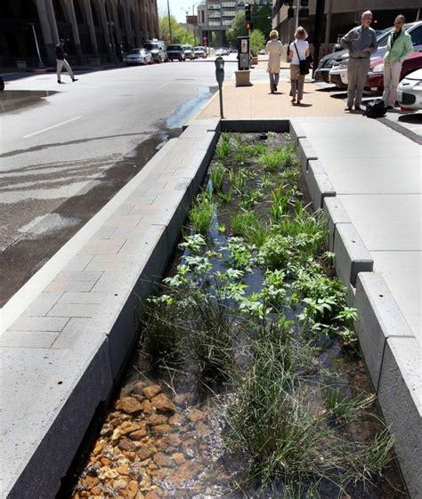 Ballard Design Bench new idea in how to handle run off in an urban setting a