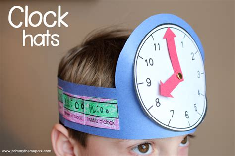 clock crafts for time activities for grade primary theme park