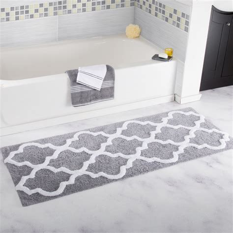 gray and white bathroom rugs gray and white bathroom rugs interdesign bath rug stripz