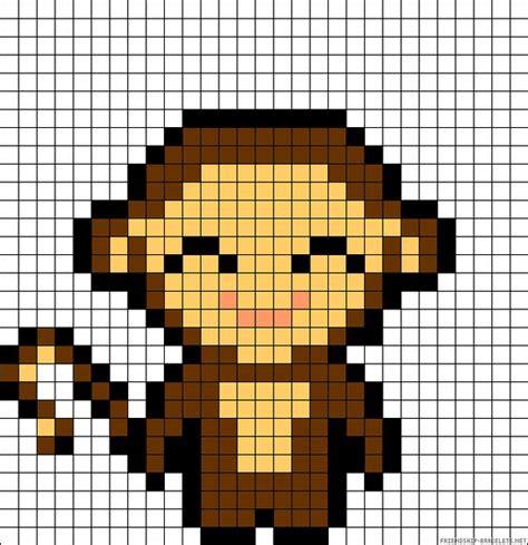 perler monkey pattern monkey perler bead pattern schemi per hama