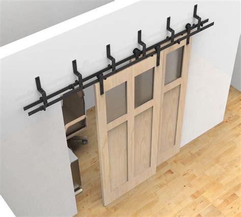 bypass closet door track 1000 ideas about bedroom closet doors on