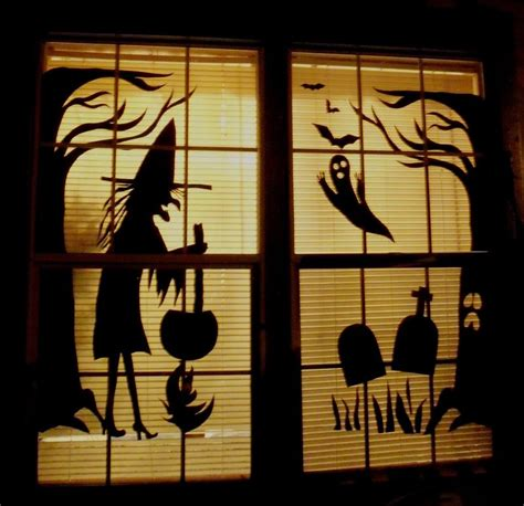 office window decorations window decorations ideas to spook up your neighbors