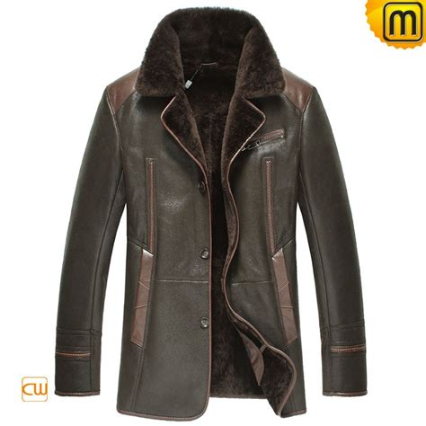 leather and shearling jacket mens sheepskin leather fur jacket cw877238