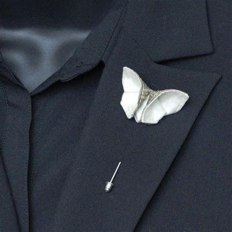 origami boutonniere items similar to custom boutonniere silk origami butterfly