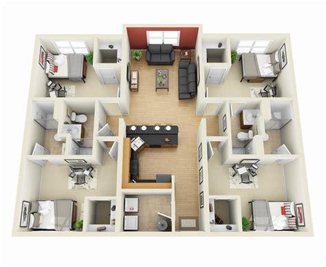4 bedroom flat floor plan 4 bedroom apartment house plans