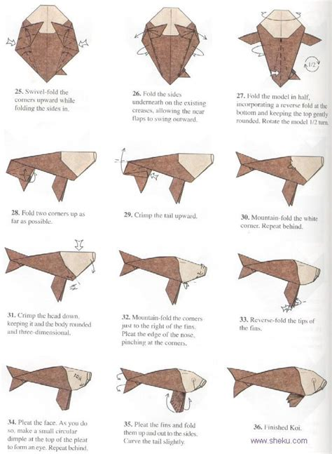 origami koi fish diagram 17 best images about origami fish and sealife on