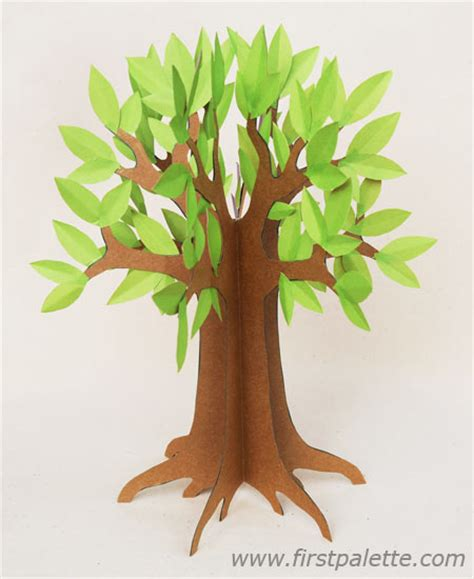 paper craft tree 3d paper tree craft crafts firstpalette