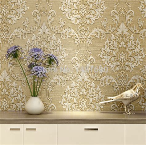 wallpaper design home decoration aliexpress buy european non woven metallic floral
