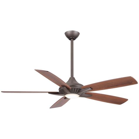 led lights for ceiling fan minka aire fans dyno rubbed bronze led ceiling fan